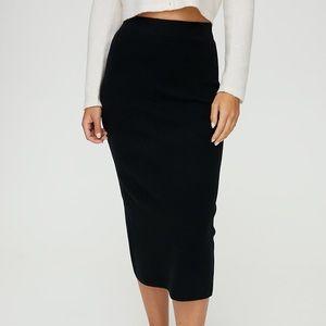 Aritzia Babaton Johan skirt, black L